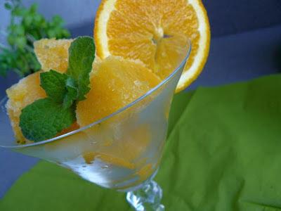 Sorbet pomarańczowy z miętą
