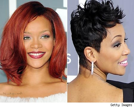 Polished Stars: Hairstyles..Rihanna & Monica