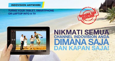 Cara pasang Indovision Anywhere