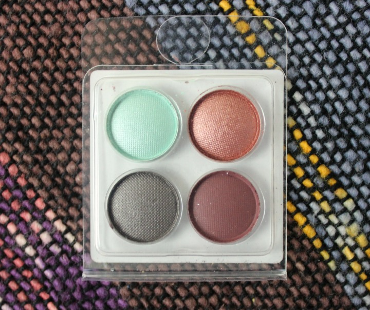 Coastal Scents Eyeshadow Sampler Quad Mint Condition, Sundried, Stone Cold, and Wild Raisin
