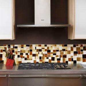 modern kitchen decoration -distinctive tile backsplash