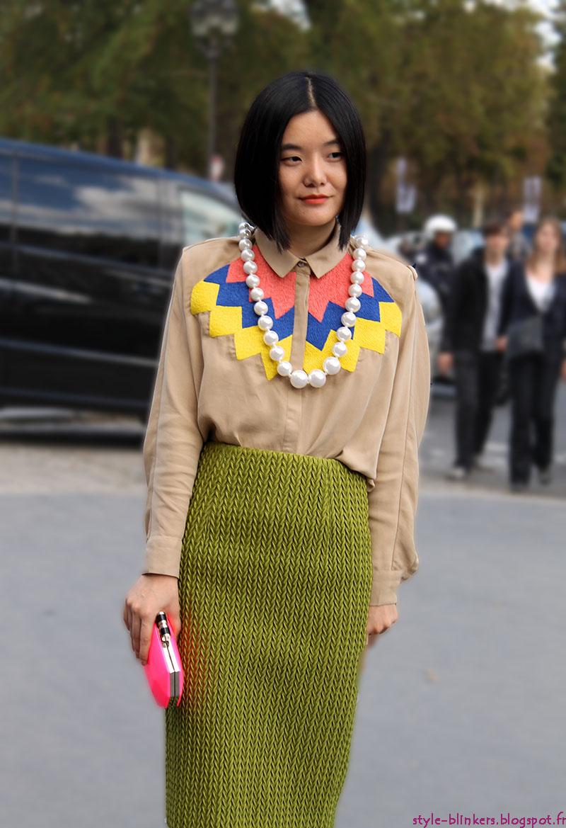 Miao Miao Zheng at Cacharel S/S 2013 - Paris Ready to Wear Fashion Week