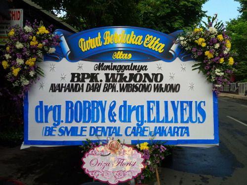 Bunga Papan Dukacita Drg Bobby Ellyeus