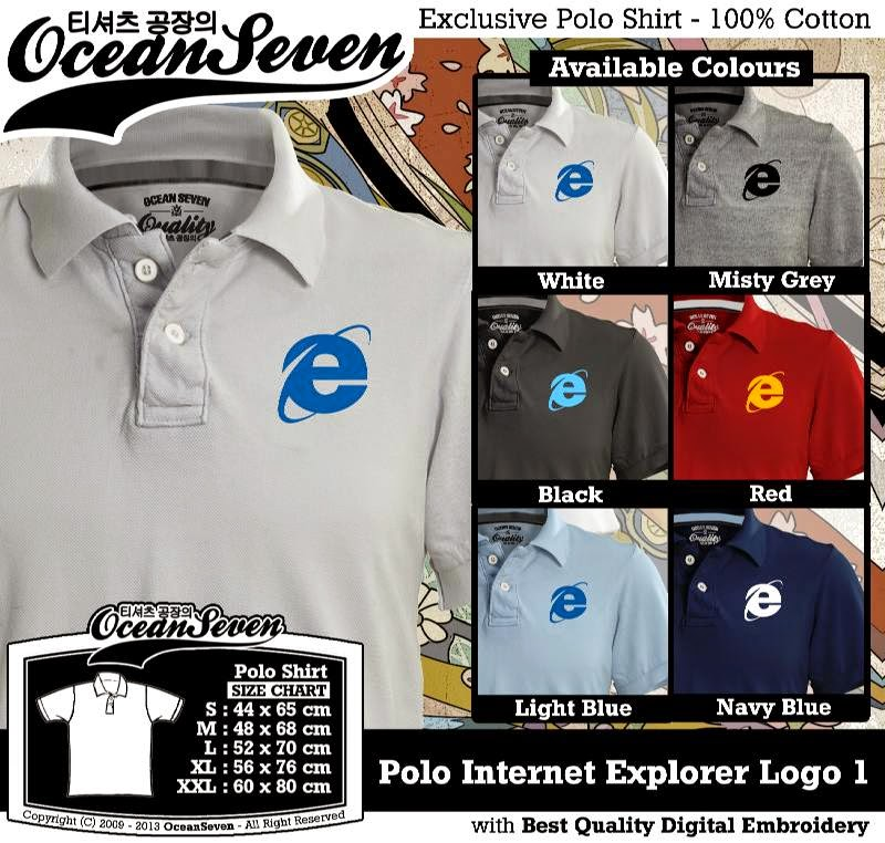 Kaos Polo Internet Explorer Logo 1