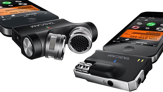 Tascam iM2X Turns iPhone Microphones into a high-quality Digital Recorder