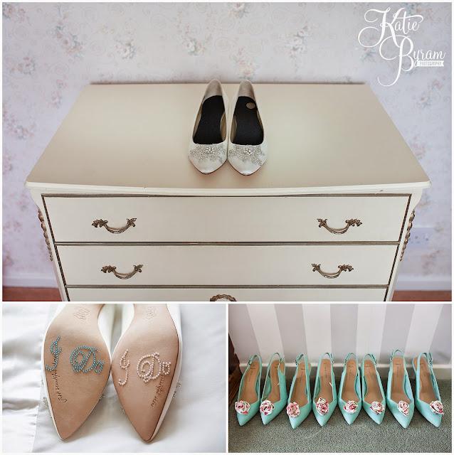 wedding shoes, rachel simpson shoes, i do stickers, camper van hire newcastle, wedding camper van northumberland, eshott hall, eshott hall wedding, morpeth wedding, katie byram photography, vintage wedding