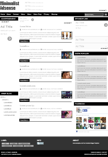 Minimalist Adsense Responsive Blogger Template