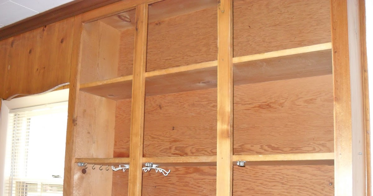 The remodeled life diy painting knotty pine cabinets - Knotty pine cabinets makeover ...