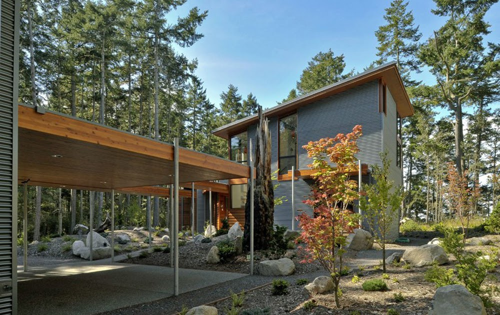 Modern Dream House Design In The Natural Environtment