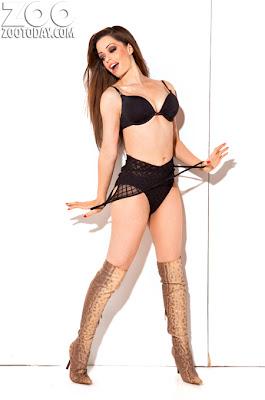 Tina Barrett Sexy Lingerie Zoo Magazine Photoshoot - Beautiful Female Photos