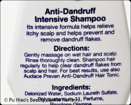 Audace Preven Anti-Dandruff Intensive Shampoo