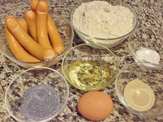 Covridog cremwursti in aluat la cuptor ingrediente