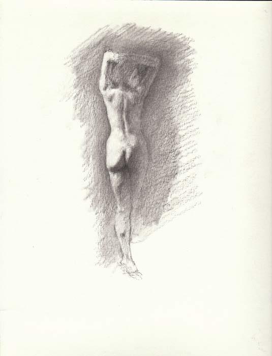 Not nude figure sketch that interrupt