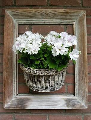 bloemenmand in lijst