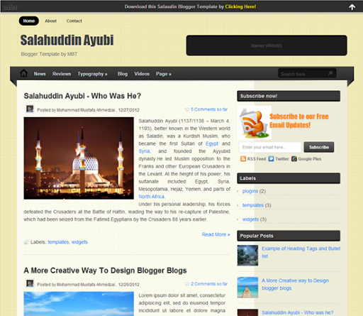 naija cyber info blog 10 best professional free blogger template