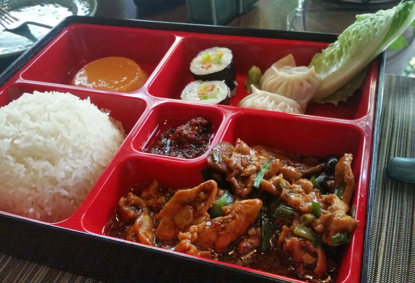 quick bytes bento box japanese lunch at mekong marigold foodaholix. Black Bedroom Furniture Sets. Home Design Ideas