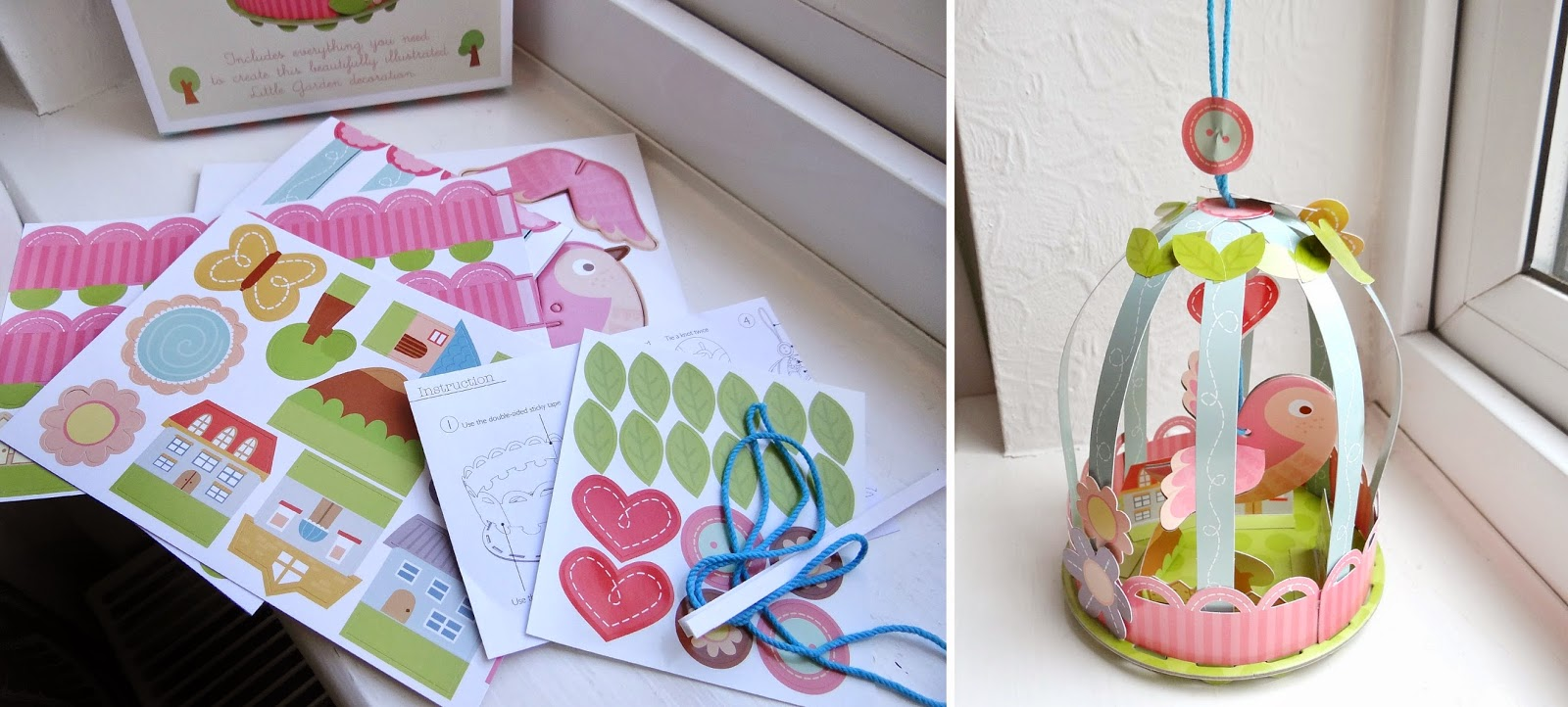 children craft, bird cage, paper craft