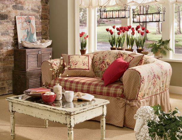 Salones shabby chic ideas para decorar dise ar y for Decoracion estilo romantico vintage