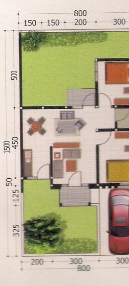 rumahku 1 contoh denah rumah minimalis type 53 120