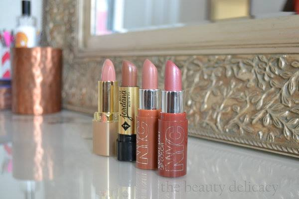 blushing nudes, lipstick, lip gloss