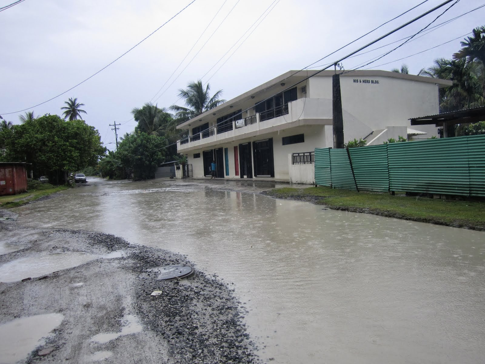 Chuuk Road in Mechitiw Village area