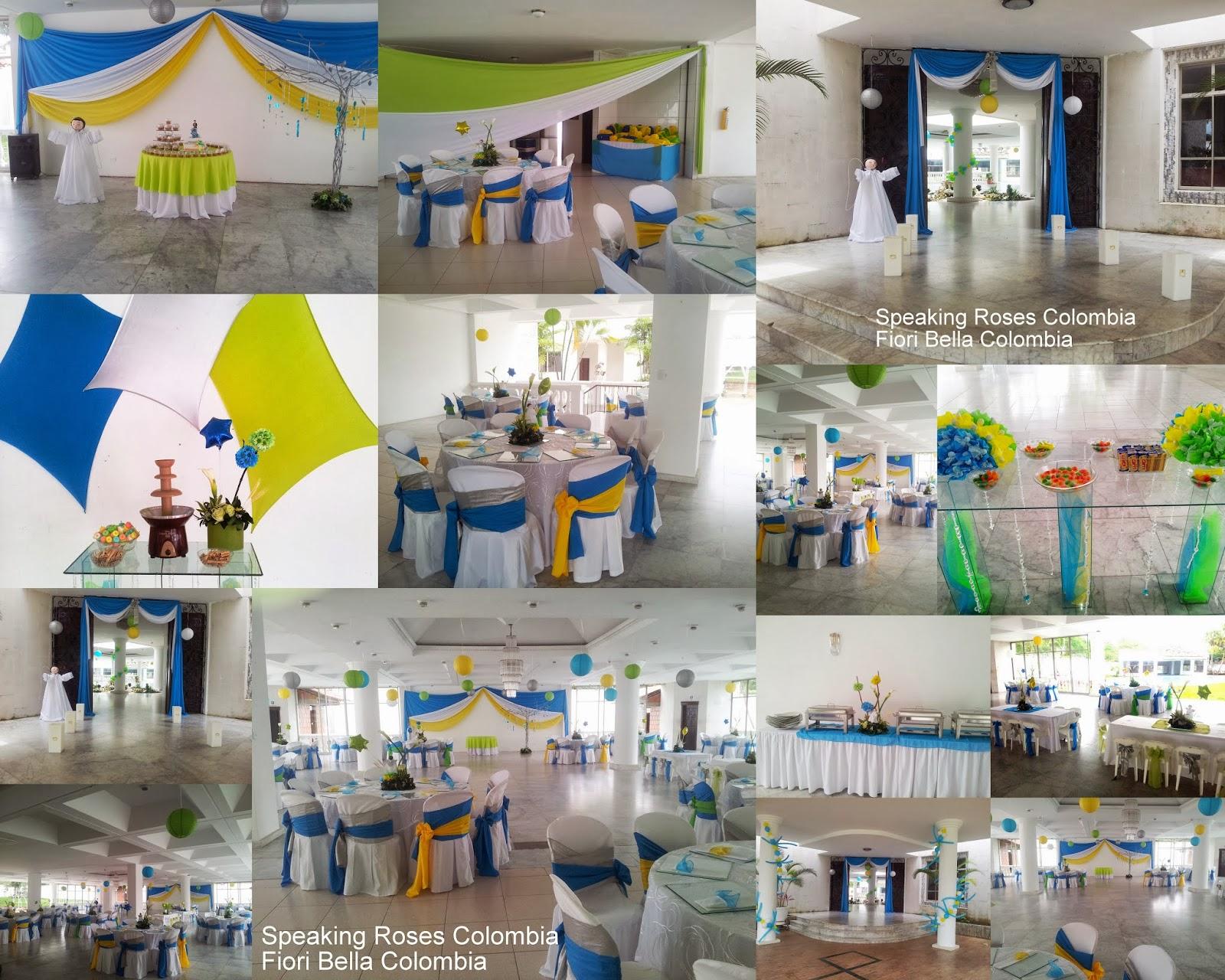 Decoraci n primera comuni n fiori bella colombia - Como decorar un salon para comunion ...