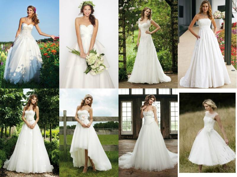 English garden wedding dresses