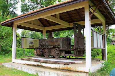 Old French railway locomotive Don Khon (Si Phan Don, Laos)