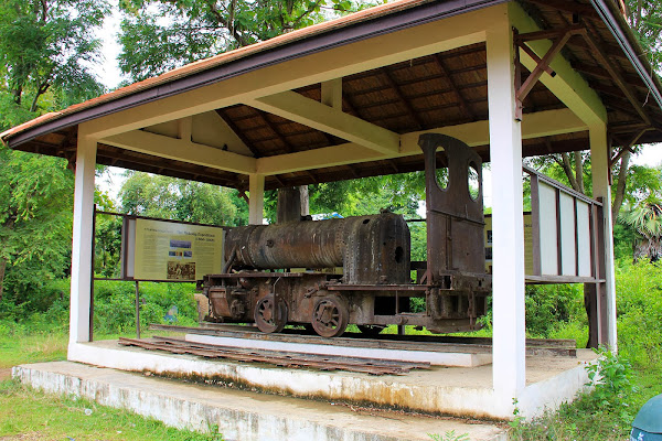 Old French railway locomotive Don Khon