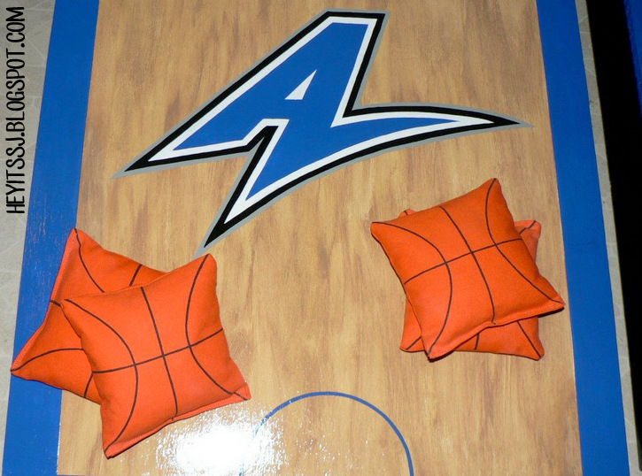 Finished bags with basketball design