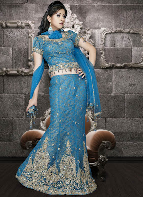 Blue-bridal-lehenga-choli