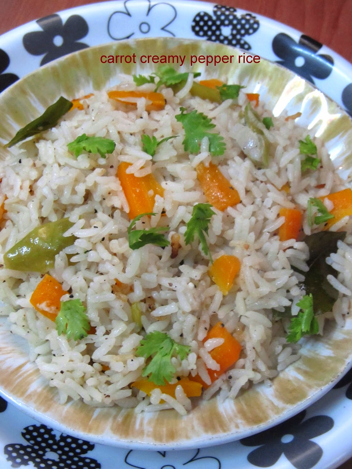 carrot creamy pepper rice