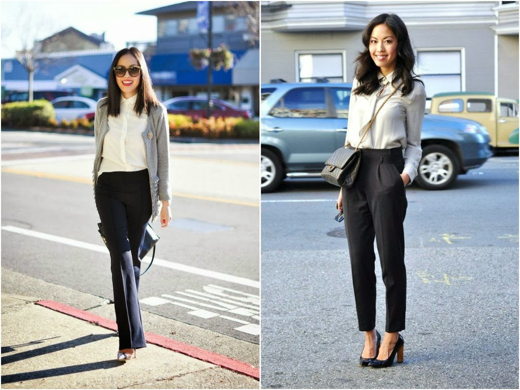 Black Pants White Blouse - Pant Row