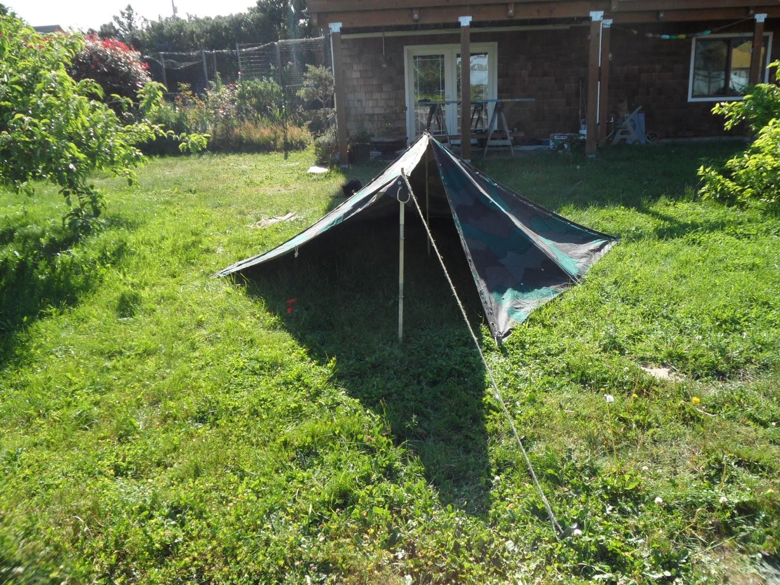 Swedish Zeltbahn Tent Set-Up & Four Bees: Swedish Zeltbahn Tent Set-Up