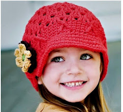 CAP & CROCHET FLOWER HAT