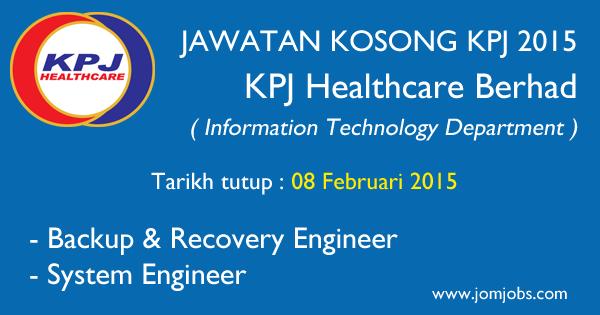 Jawatan Kosong KPJ Healthcare Berhad 2015 Kuala Lumpur