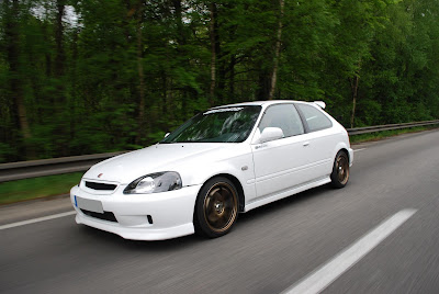white honda civic ek9 strolling down the street honda civic ek are my ...