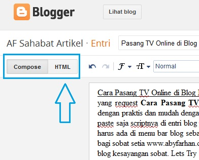 Pasang TV Online di Blog | Mivo TV