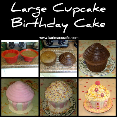cupcake birthday cake tutorial