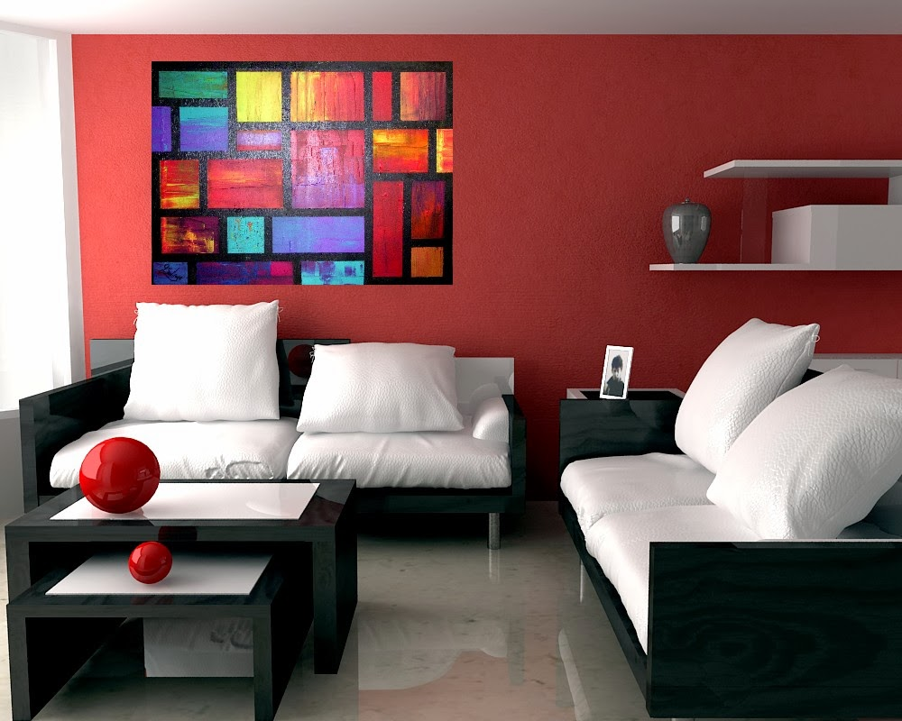 For Red Living Rooms Joey Santiago Fine Art