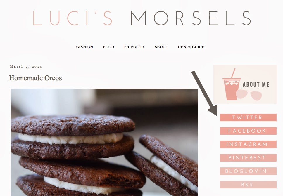 Luci's Morsels Blogger Redesign | Luci's Morsels