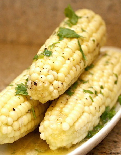 APPLE A DAY: Sweet Corn with Lime-Cilantro Butter