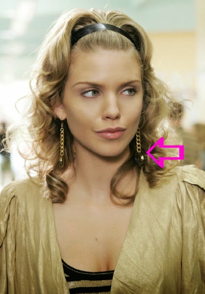 AnnaLynne McCord wearing Jenny Dayco earrings