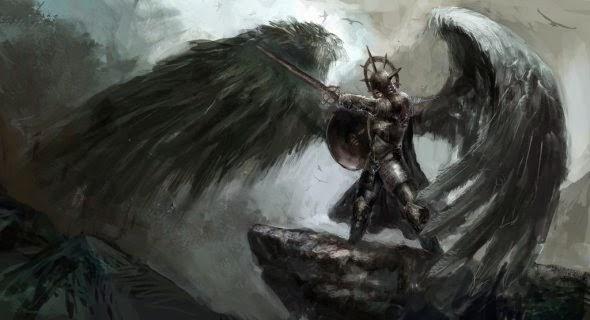 Vuk Kostic chevsy deviantart ilustrações fantasia magia anjos demônios deuses