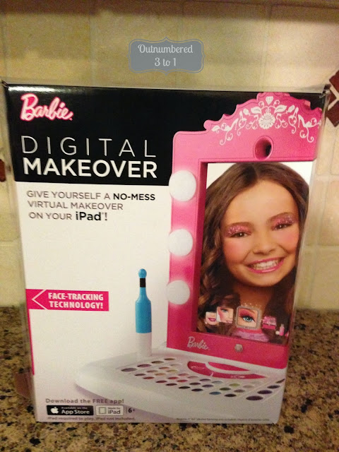 Mess Free Makeover With Barbie The Barbie Digital Makeover Review Outnumbered 3 To 1