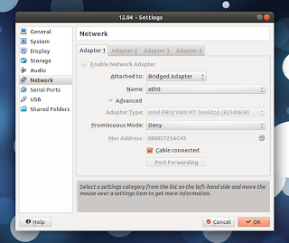 virtualbox ubuntu 12.04 Internet connection fix