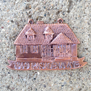 living with ThreeMoonBabies | wire brushed copper clay house ornament