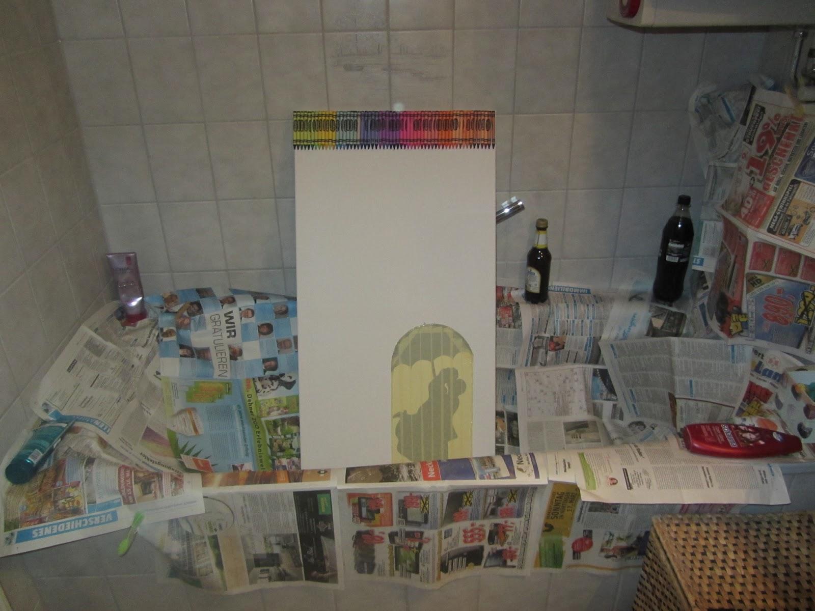kreativ oder primitiv crayon art p rchen im regen. Black Bedroom Furniture Sets. Home Design Ideas