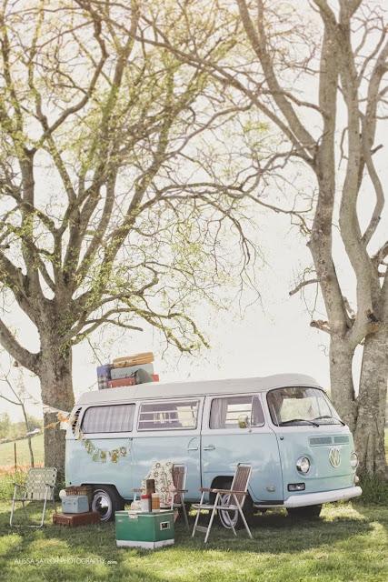 Furgoneta vintage boda