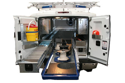 Slide-Out Drawer Options and Accessories for Service Truck Body